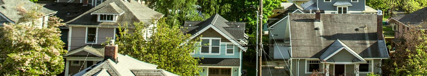 overhead shot of neighborhood