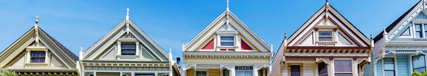 colorful and ornate roofs in San Francisco