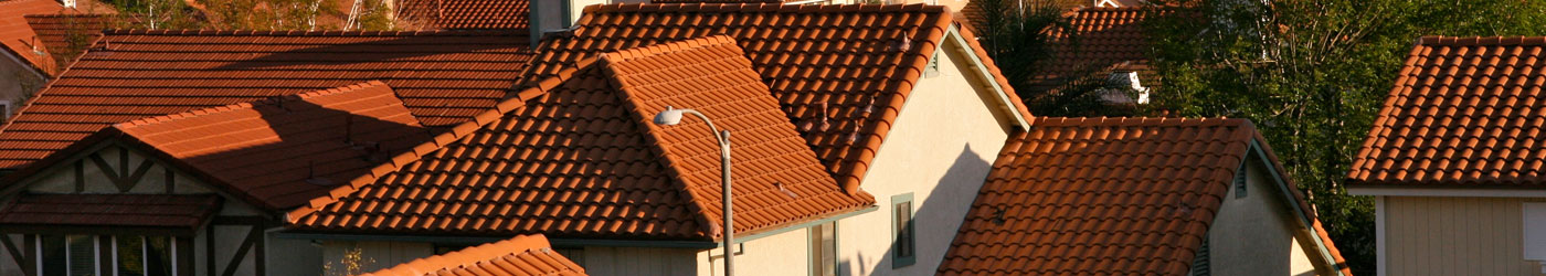 houses with spanish tile roofs